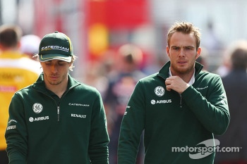 (L to R): Charles Pic, Caterham with Giedo van der Garde, Caterham F1 Team