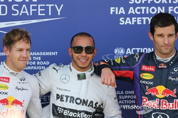 Sebastian Vettel, Red Bull Racing, Lewis Hamilton, Mercedes Grand Prix and Mark Webber, Red Bull Racing