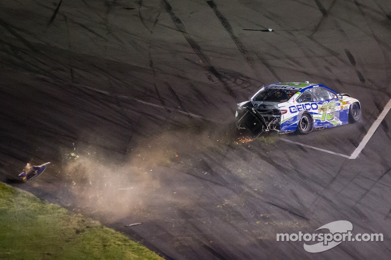 Casey Mears, Germain Racing Ford crashes