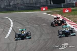 Lewis Hamilton, Mercedes Grand Prix and Nico Rosberg, Mercedes GP