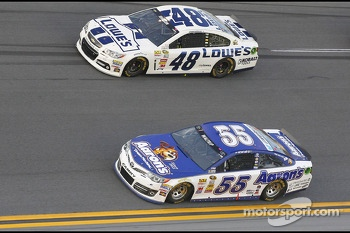 Jimmie Johnson and Michael Waltrip