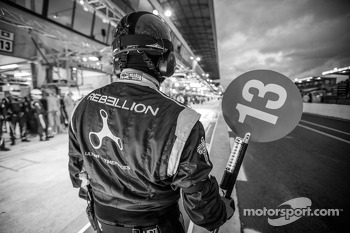 Rebellion Racing team member