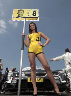 Grid girl of Joey Hand, BMW Team RBM BMW M3 DTM
