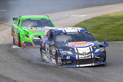 Travis Kvapil and Danica Patrick in trouble