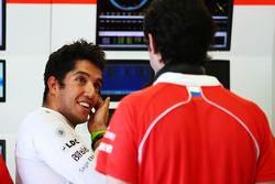 Rodolfo Gonzalez, Marussia F1 Team Reserve Driver with Marc Hynes, Marussia F1 Team Driver Coach