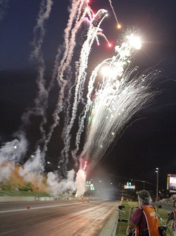 Post race fireworks
