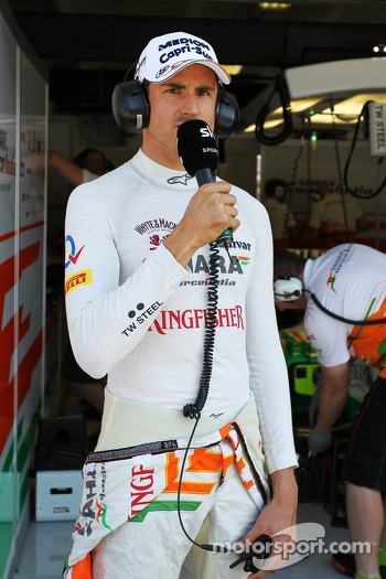 Adrian Sutil, Sahara Force India reporting for Sky Sports