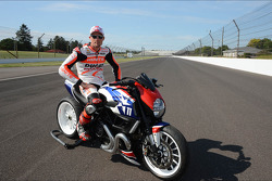 Ben Spies on an electric motorcycle