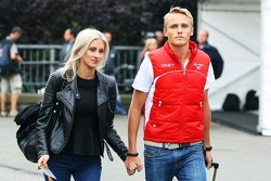 Max Chilton, Marussia F1 Team with his girlfriend Chloe Roberts