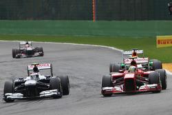 Valtteri Bottas, Williams and Felipe Massa, Ferrari battle for position