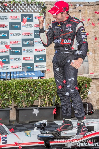 Will Power celebrating race win