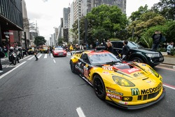 Parade of FIA WEC cars and drivers at the MASP