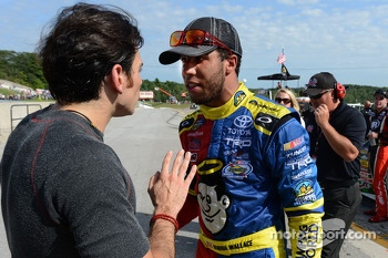 German Quiroga and Darrell Wallace Jr. argue after the race