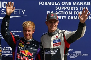 Pole position for Sebastian Vettel, Red Bull Racing and 3rd for Nico Hulkenberg, Sauber