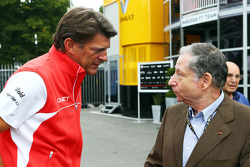 (L to R): Graeme Lowdon, Marussia F1 Team Chief Executive Officer with Jean Todt, FIA President