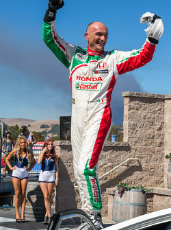 Gabriele Tarquini after winning race 2