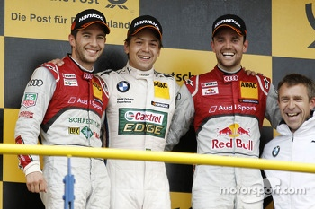 Podium: race winner Augusto Farfus, second place Mike Rockenfeller, third place Jamie Green