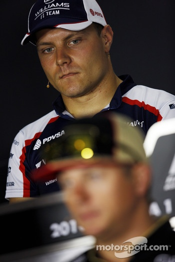 Valtteri Bottas, Williams and Sergio Perez, McLaren in the FIA Press Conference