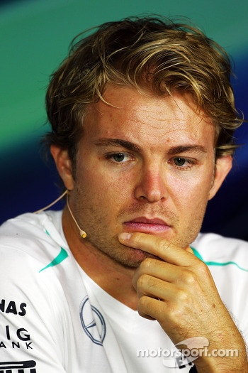 Nico Rosberg, Mercedes AMG F1 W04 in the FIA Press Conference