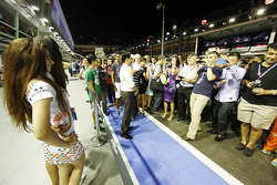 Fans with the Sahara Force India F1 Team Speed Divas