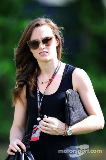Laura Jordan, girlfriend of Paul di Resta, Sahara Force India F1