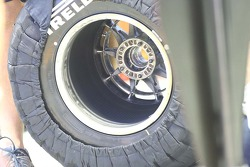 A Pirelli tyre used by Red Bull Racing