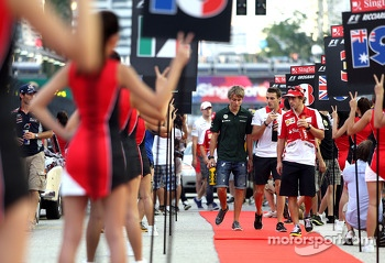 Fernando Alonso, Scuderia Ferrari and Charles Pic, Catheram Formula One Team , Jules Bianchi, Marussia Formula One Team