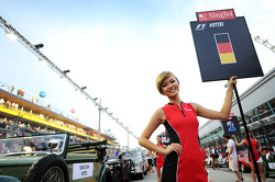 Grid girl for Sebastian Vettel, Red Bull Racing