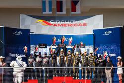 LMP2 podium: class winners John Martin, Roman Rusinov, Mike Conway, second place Luis Perez-Companc, Nicolas Minassian, Pierre Kaffer, thid place Thomas Holzer, Dominik Kraihamer, Jan Charouz