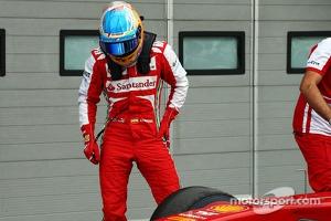 Fernando Alonso, Ferrari F138 in parc ferme