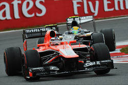 Max Chilton, Marussia F1 Team MR02 leads Esteban Gutierrez, Sauber C32