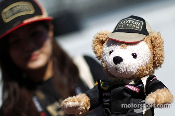 A Lotus F1 Team teddy mascot