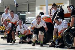 Sahara Force India Formula One Team mechanics
