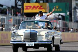 Drivers parade, Lewis Hamilton, Mercedes Grand Prix