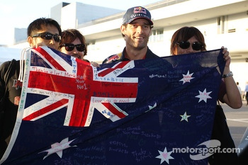 Mark Webber, Red Bull Racing with fans
