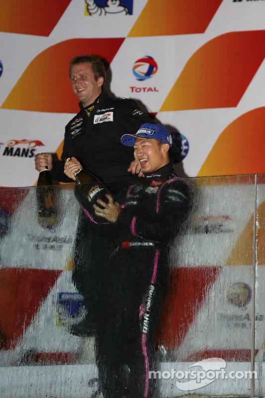 Podium: winner David Cheng