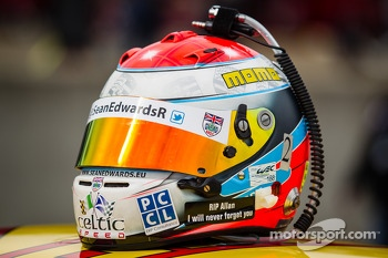Helmet of Sean Edwards
