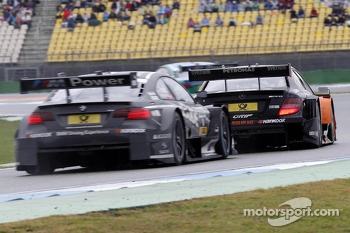 Joey Hand, BMW Team RBM BMW M3 DTM and Robert Wickens, Mercedes AMG DTM-Team HWA DTM Mercedes AMG C-Coupe