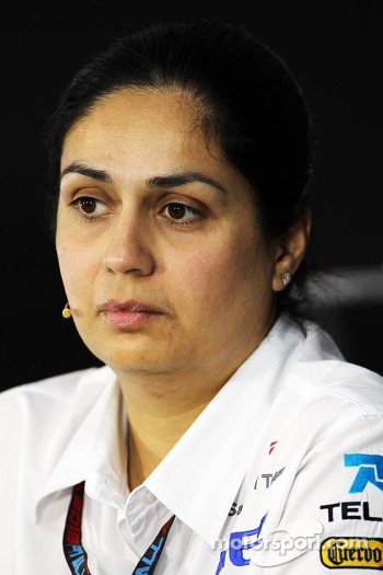 Monisha Kaltenborn, Sauber Team Principal in the FIA Press Conference