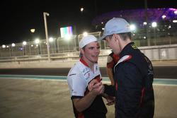 Conor Daly congratulates race winner and 2013 champion Daniil Kvyat