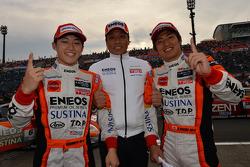 GT500 winners Kazuya Oshima, Yuji Kunimoto