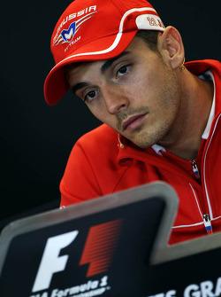Jules Bianchi, Marussia F1 Team in the FIA Press Conference