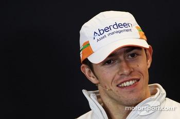 Paul di Resta, Sahara Force India F1 in the FIA Press Conference