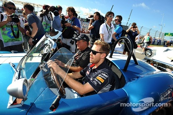 Sebastian Vettel, Red Bull Racing drives his own parade car