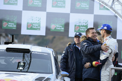 Jost Capito, with winner Sébastien Ogier