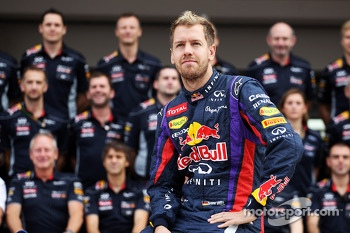 Sebastian Vettel, Red Bull Racing at a team photograph