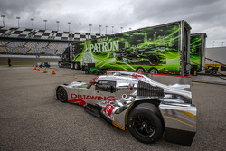 #0 DeltaWing Racing DeltaWing DWC13 Elan: Katherine Legge, Andy Meyrick is the only prototype allowed on track on Wednesday