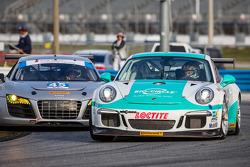#29 Konrad Motorsport Porsche GT America: Franz Konrad, Lance Willsey, #45 Flying Lizard Motorsports Audi R8: Seth Neiman, Spencer Pumpelly