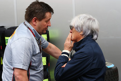 (L to R): Paul Hembery, Pirelli Motorsport Director with Bernie Ecclestone, CEO Formula One Group