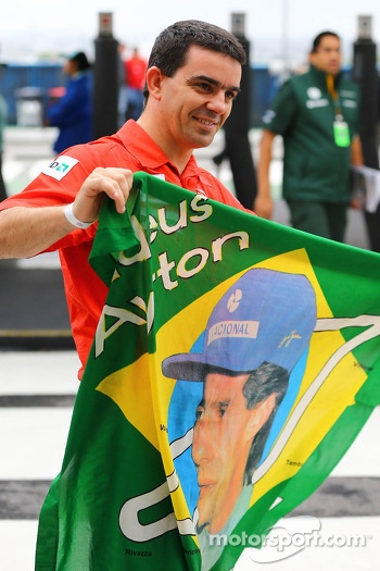 An Ayrton Senna fan